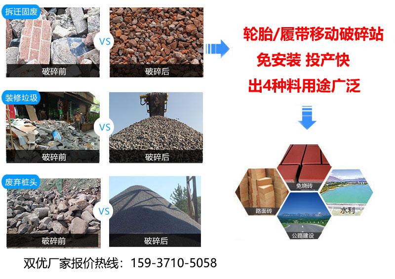 建筑废料粉碎机的特点