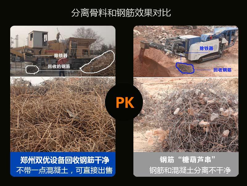 功能齐全,破碎_除铁_轻物质分离_筛分.一台顶三台.建筑垃圾破碎很给力.
