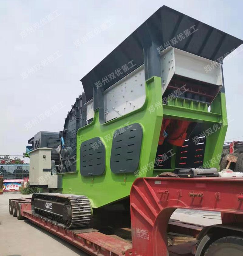 时产200吨移动式建筑垃圾粉碎机